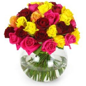 Mixed Bright Rose Bowl - FWR - Arabian Petals
