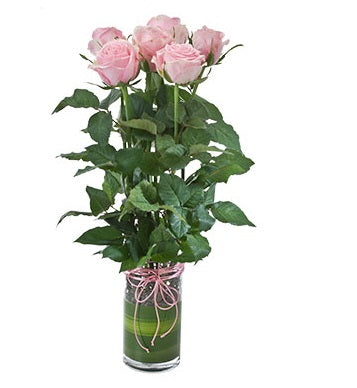 Vase with Pink Roses - Arabian Petals