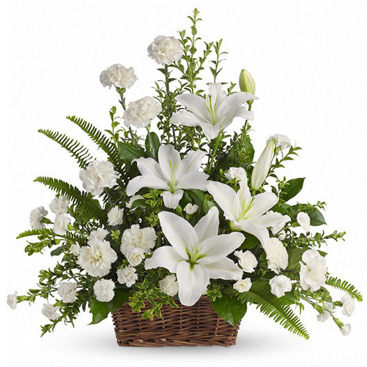 Basket Of White - FWR - Arabian Petals