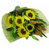Sunflower & Lilies Bouquet - Arabian Petals