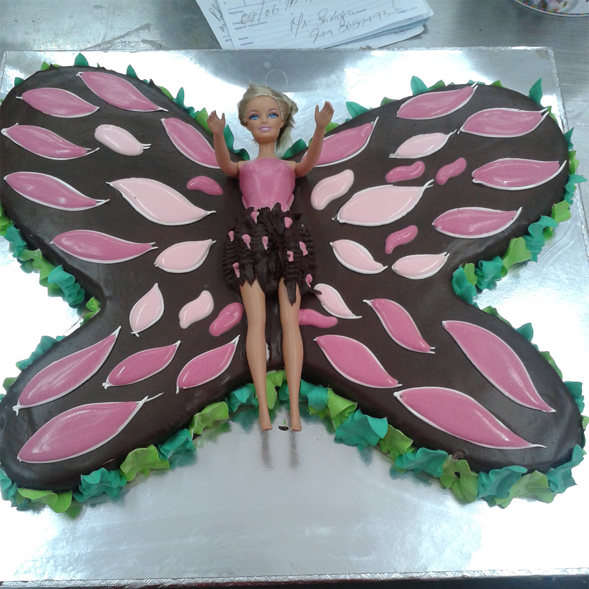 Barbie Butterfly Cake - CWD