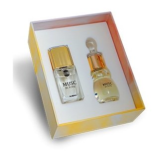 Ajmal Musc In Love For Unisex 14ml Eau de Parfum + Concentrated Perfume Oil 12ml - Arabian Petals