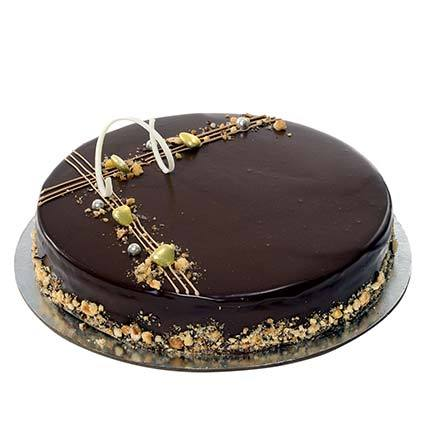 Eggless Hazelnut Chocolate Cake - Arabian Petals