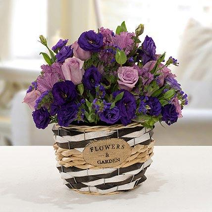 Flowers - Astoma N Rose Flower Basket