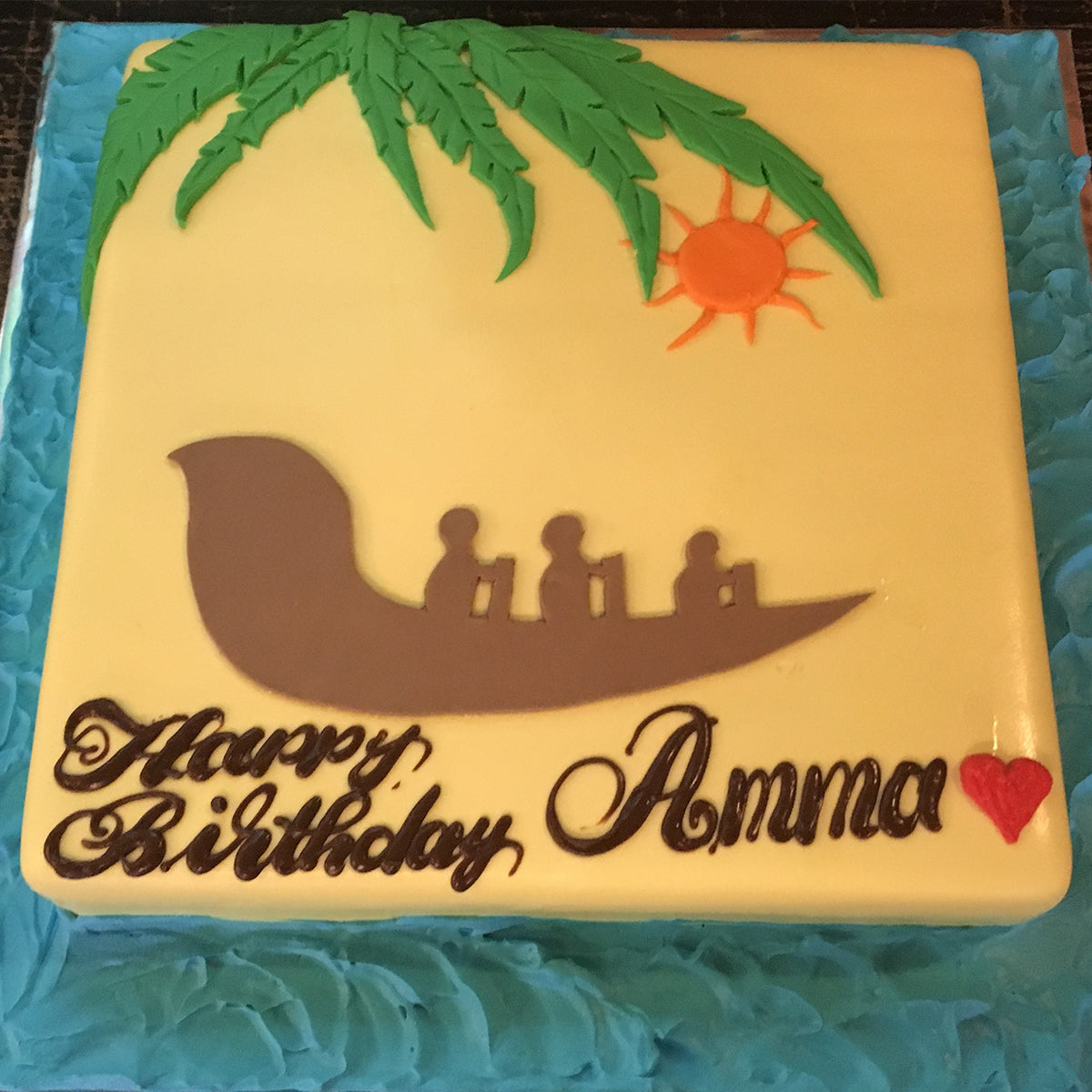 Beach Sunset Cake - CWD