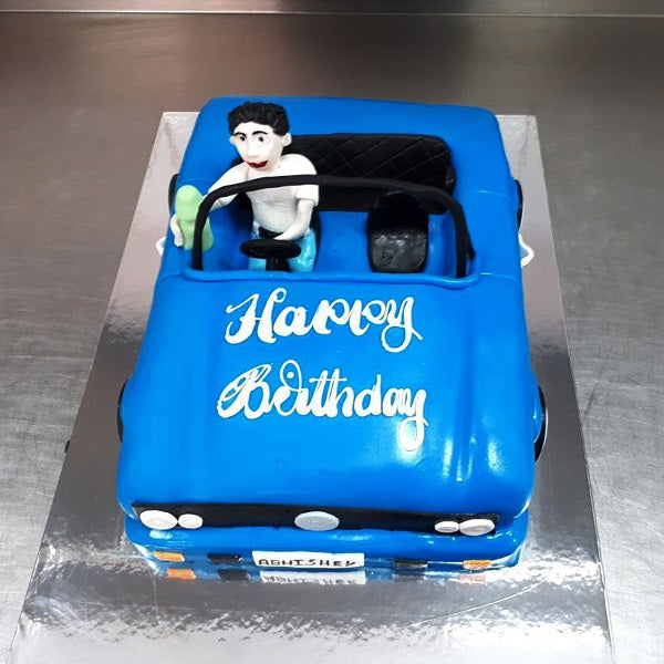 Blue Car Cake - CWD