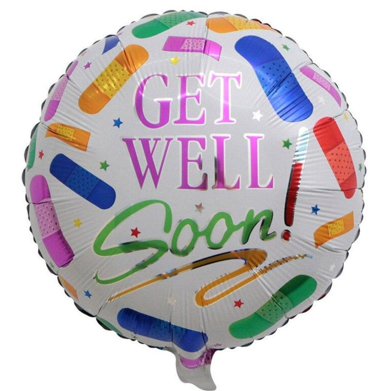 Get Well Soon - Roses Balloon