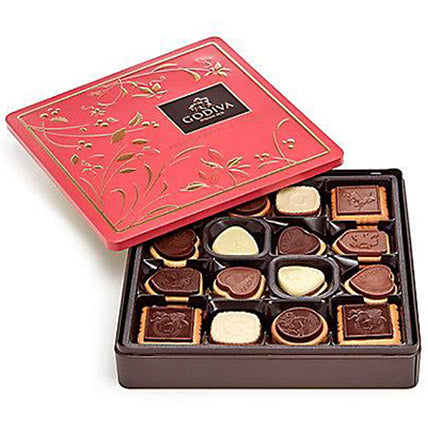 Godiva Assorted Biscuits Tin Box - Arabian Petals