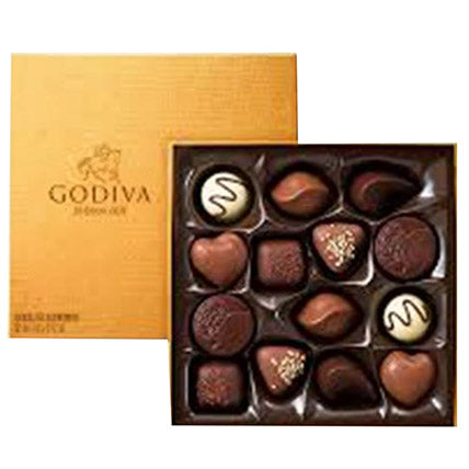 Godiva Gold Rigid Chocolate Box 14 Pcs - Arabian Petals
