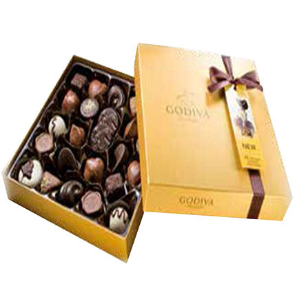 Godiva Gold Rigid Chocolate Box 24 Pcs - Arabian Petals