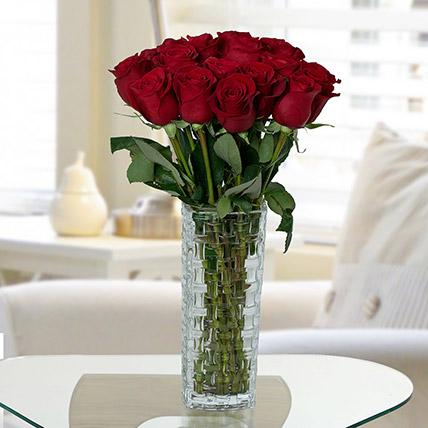 Gorgeous Red Roses Arrangement - Arabian Petals