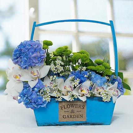 Graceful Flower Basket Arrangement