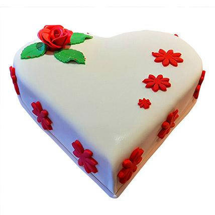 Heartshape Butterscotch Cake - VD - Arabian Petals