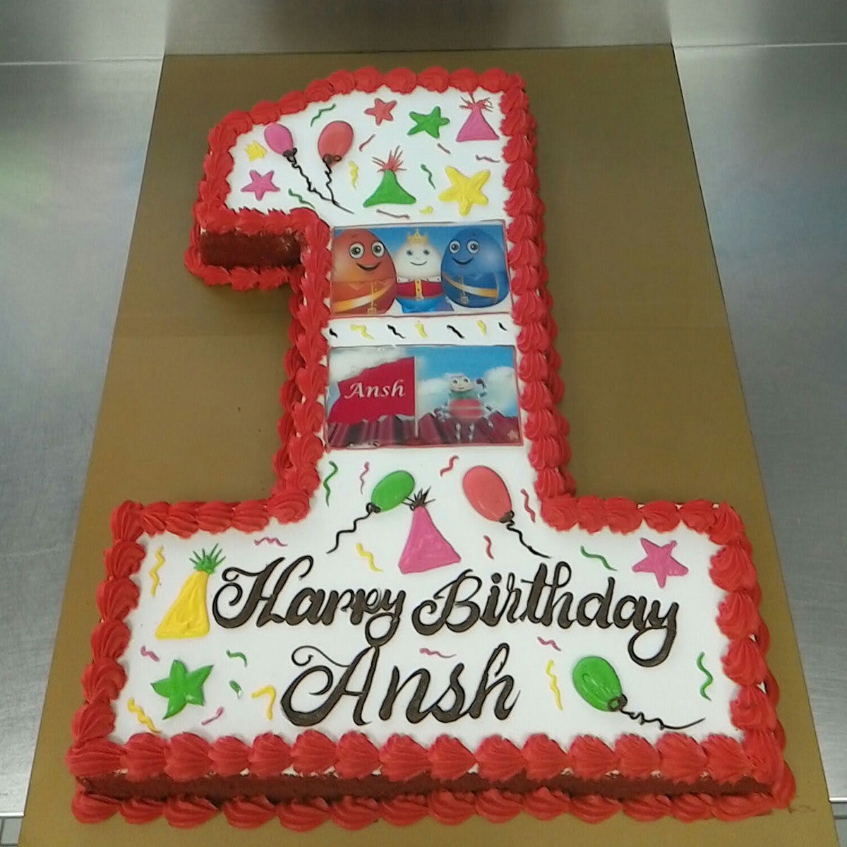 Birthday Number Cake - CWD - Arabian Petals