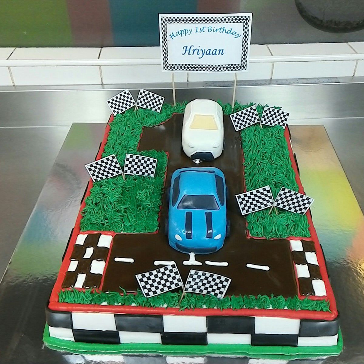 Racing Car Number Cake - CWD - Arabian Petals
