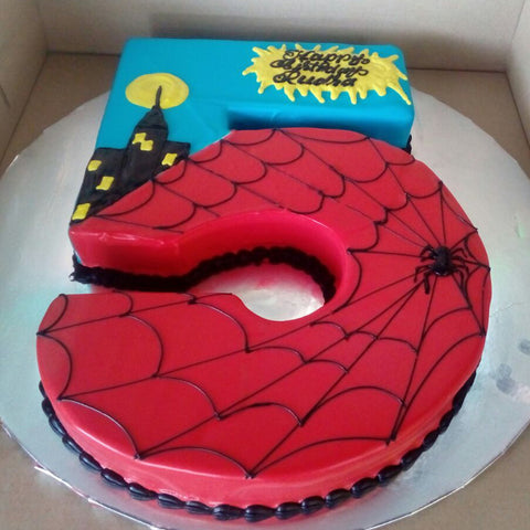 SpiderMan Number Cake - CWD