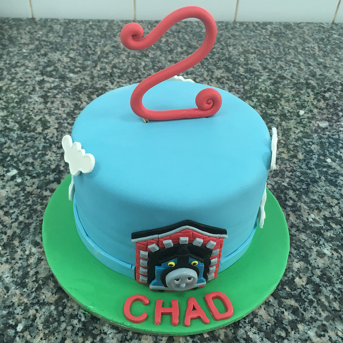 Little Train Number Cake - CWD - Arabian Petals