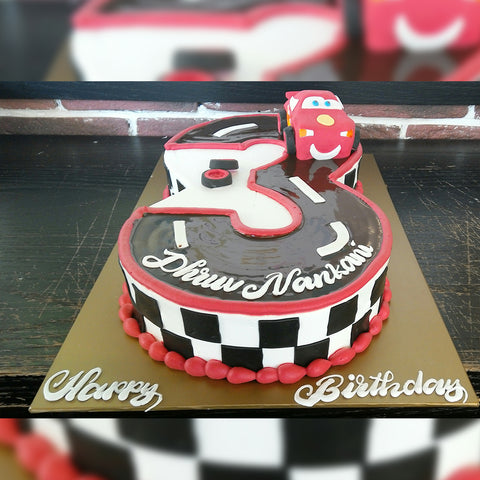 Cars Number Cake - CWD