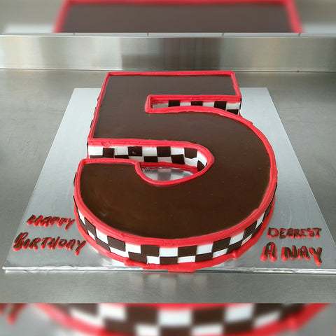 Neat Chocolate Number Cake - CWD