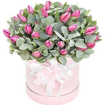 30 Tulips in pink box