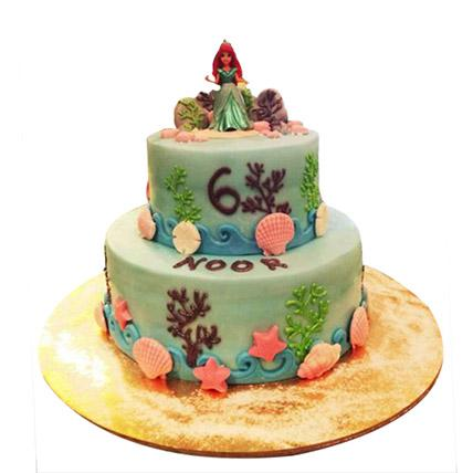 Red Haired Princess Cake - Arabian Petals
