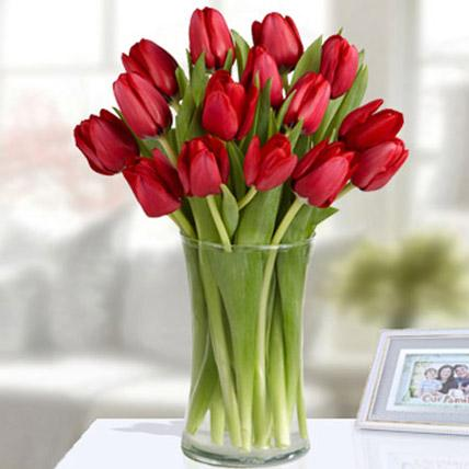 Red Tulip Arrangement - FWR - Arabian Petals