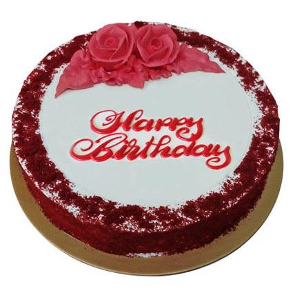 Red Velvet Birthday Cake - Arabian Petals