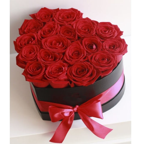 Red Roses Heart Box - Arabian Petals