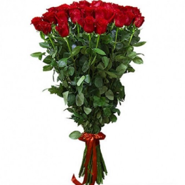 1 Meter Long Stems Beautiful Red Roses