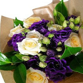 Roses and Lisianthus - FWR - Arabian Petals