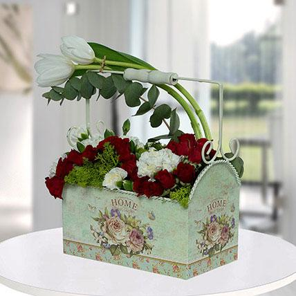 Spectacular Flower Arrangement In A Designer Pot