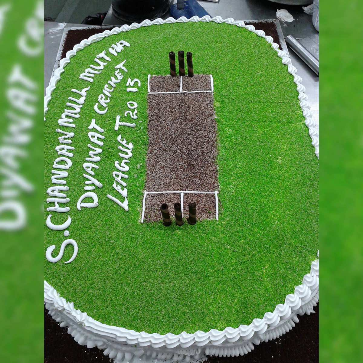 Cricket Ground Cake - CWD - Arabian Petals
