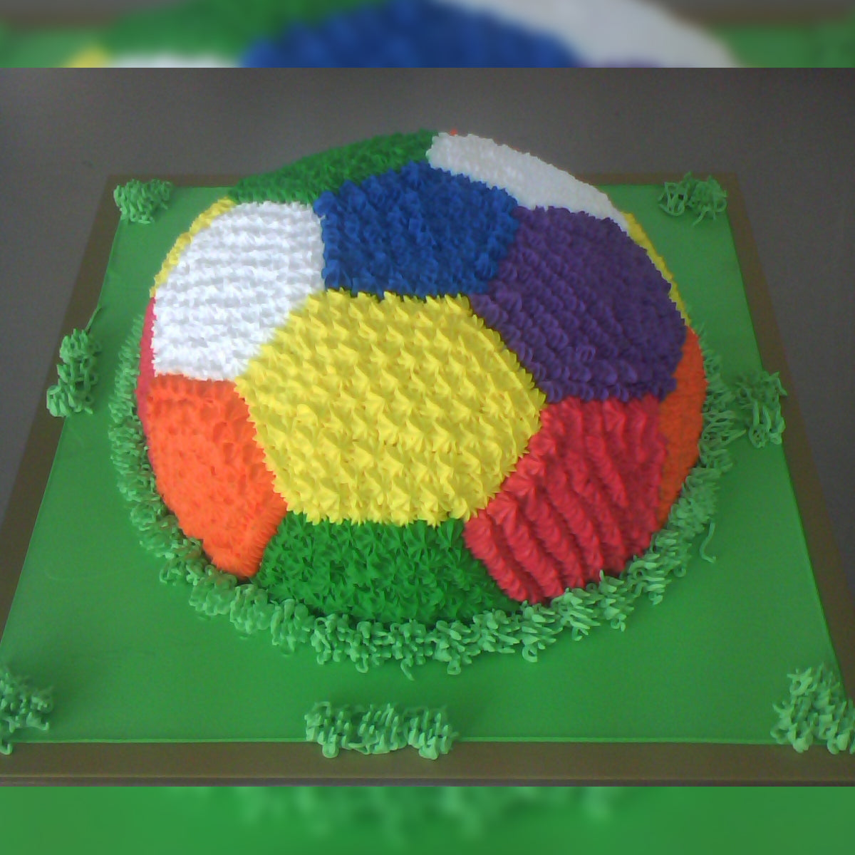 Colorful Football Cake - CWD