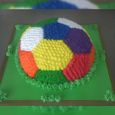 Colorful Football Cake - CWD - Arabian Petals