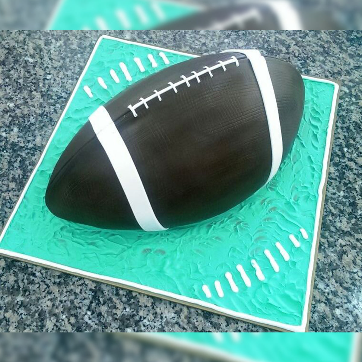 Rugby Ball Cake - CWD