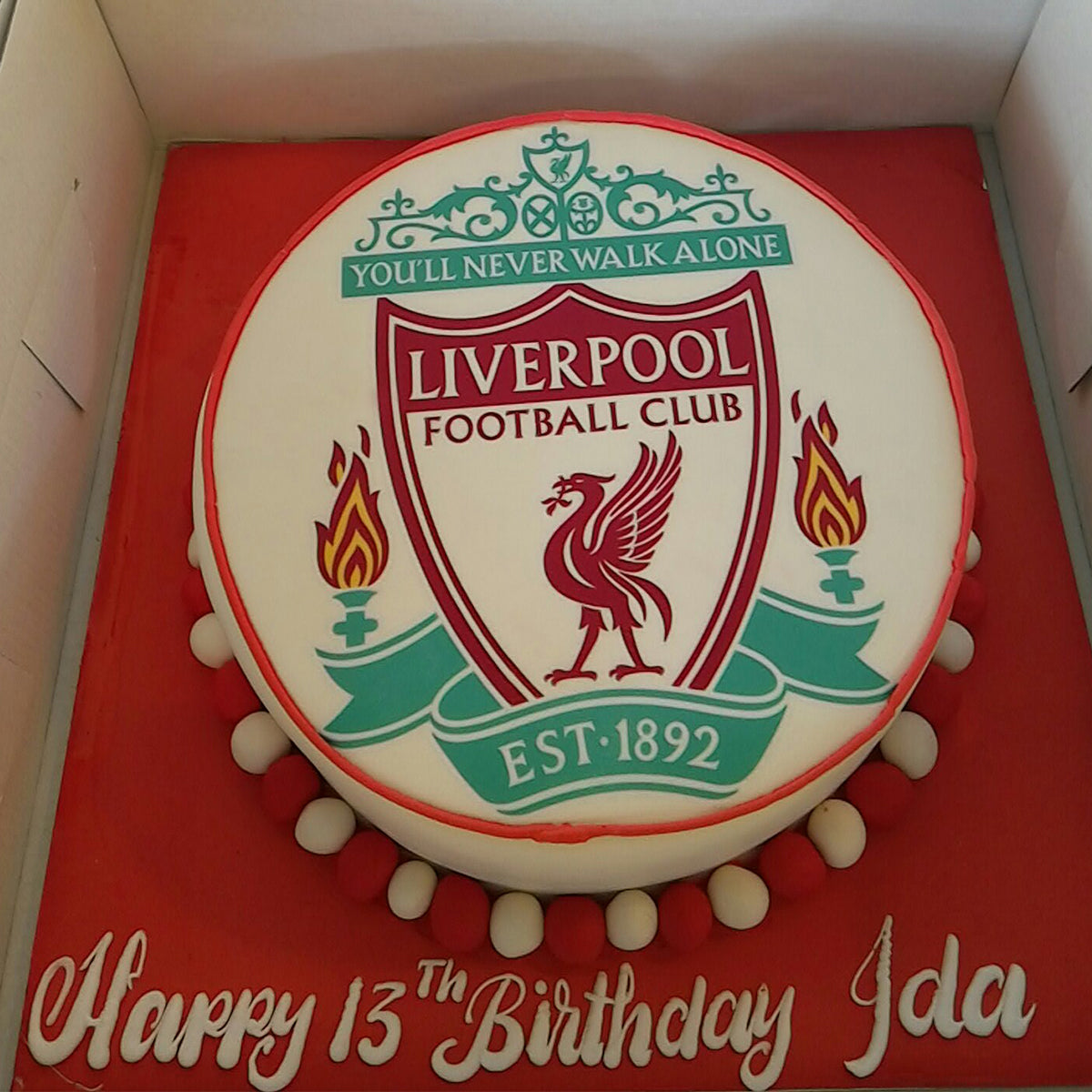 Liverpool Club Cake - CWD