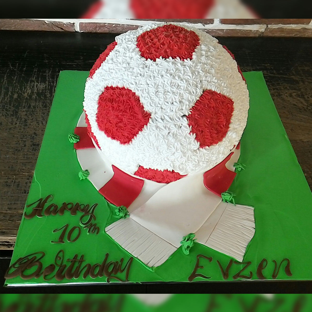 Red Football Cake - CWD - Arabian Petals