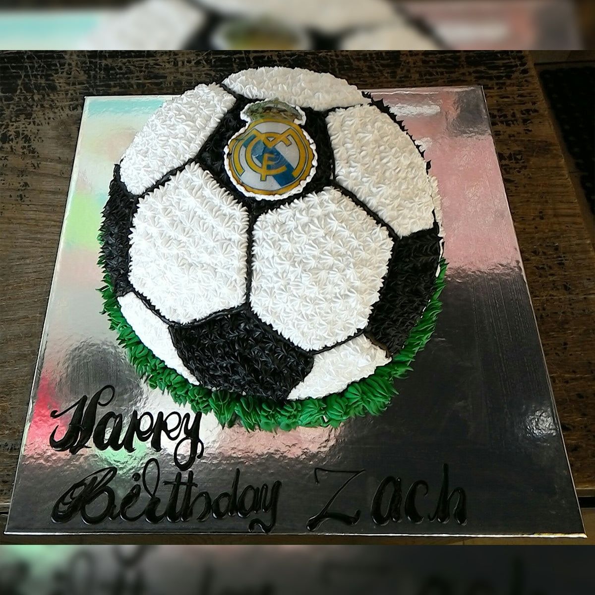 Black Football Cake - CWD