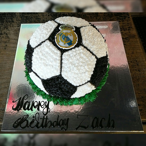 Black Football Cake - CWD - Arabian Petals