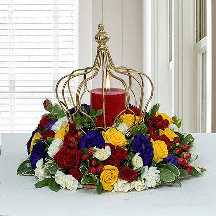Tempting Centertable Flower Arrangement - FWR - Arabian Petals