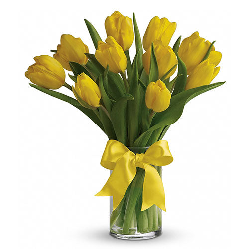 Yellow Tulip Arrangement