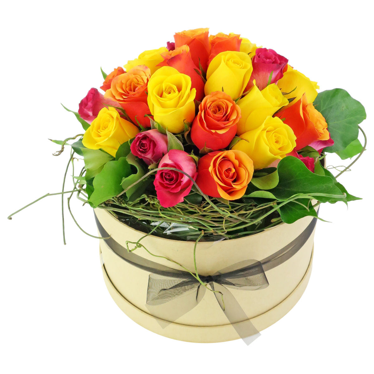 Pastel Roses Round Box - So Fancy - Arabian Petals
