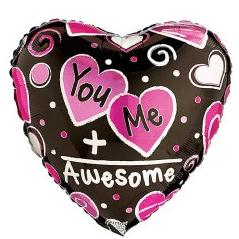 You & Me Heart Shape Balloon - Arabian Petals