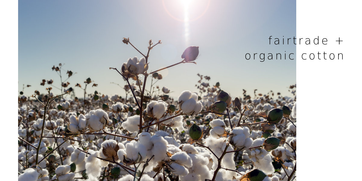 bon label uses only fairtrade and  organic cotton
