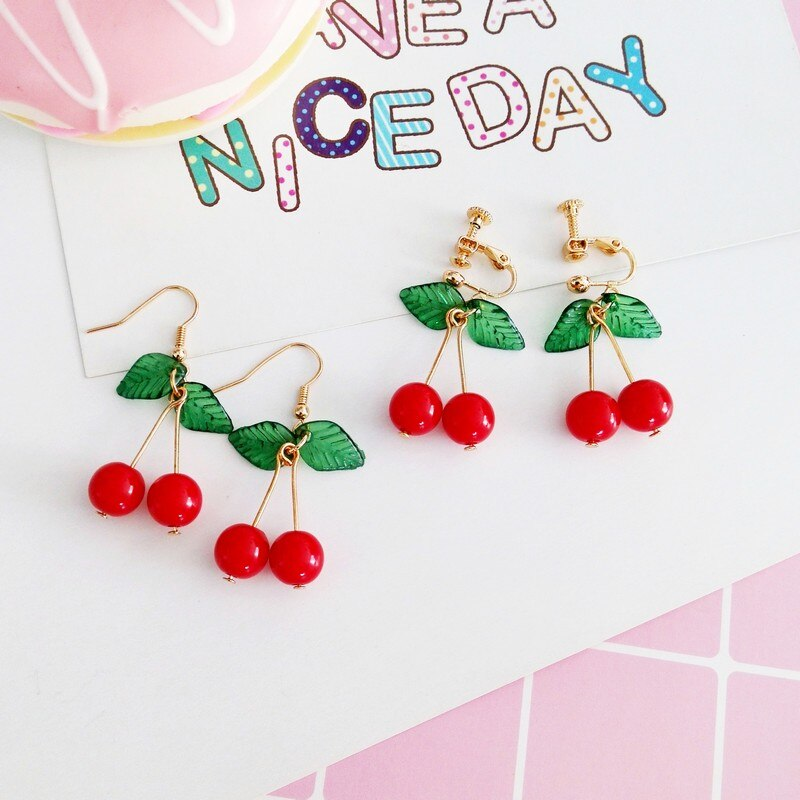 Hot Cherry Earrings