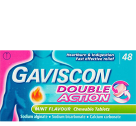 Gaviscon Double Action Peppermint - 48 tablets