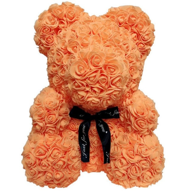40cm Bear Rose Teddy Bear