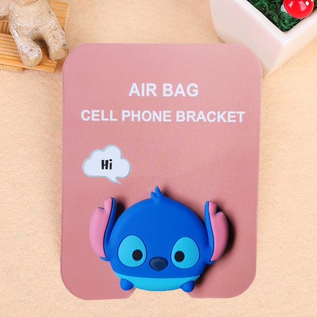 Cute 3D Animal Airbag Phone Expanding Stand Finger Holder