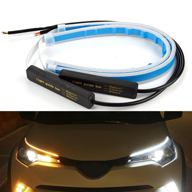 2x Ultrafine Cars DRL LED Daytime Running Lights