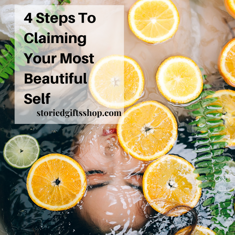 4 steps to claiming your most beautiful self women in lemon water
